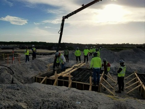 Concrete poured for Blue Origin's orbital space complex in Florida | New Space | Scoop.it