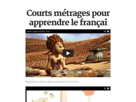 Courts métrages pour apprendre le françai | fle&didaktike | Scoop.it