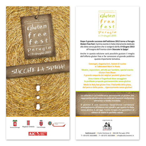 Gluten Free Fest :: Perugia - 6 | 9 Giugno 2013 :: STACCATE LA SPIGA! | FreeGlutenPoint | Scoop.it