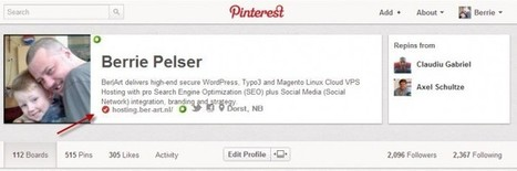 Did you verify your Website on Pinterest ? /@BerriePelser | WordPress Google SEO and Social Media | Scoop.it