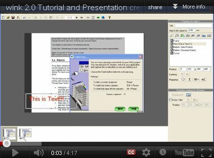 Wink 2.0 – Create High Quality Presentations and Tutorials [free] | Information Technology Learn IT - Teach IT | Scoop.it