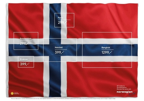 Finding these flags in a Norwegian flag is a smart way to sell Norwegian Airlines | Compelling Selling | Scoop.it