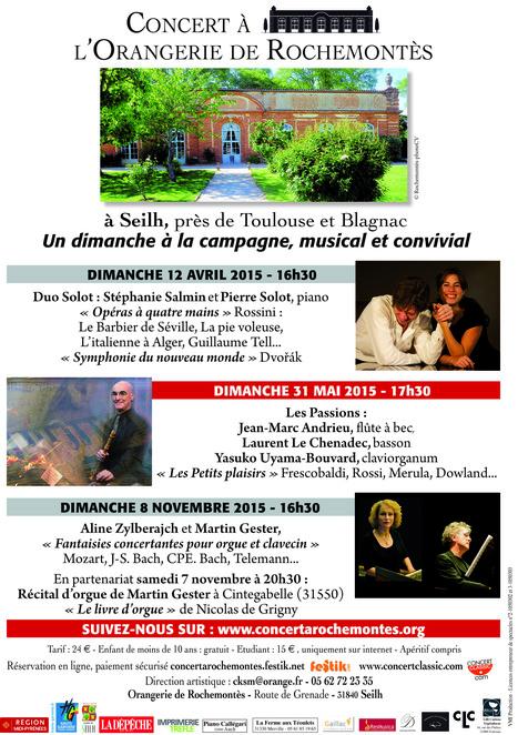 CONCERT A L ORANGERIE DE ROCHEMONTES : nouveau site | FOLLE de MUSIQUE | Scoop.it
