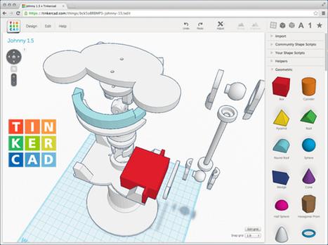 Créer en 3D avec impression possible depuis un navigateur Internet     Numérique à l'école   Scoop.it