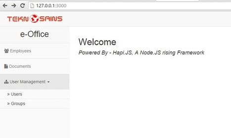 Sample Project of Node.js with Hapi and Boostrap | Tutorial Pemrograman & Sains | Scoop.it