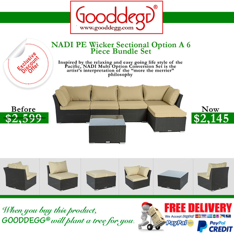 Nadi Luxury Outdoor Wicker Conversation Sofa Set Only For $2145 at Gooddegg Home Decor | Home Decor (Wicker Furniture) | Scoop.it