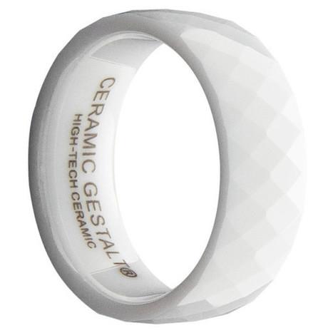 GESTALT® White Ceramic Ring - 8mm Width. Faceted Design. Comfort Fit. – Gestalt Couture   Jewelry Trends   Scoop.it