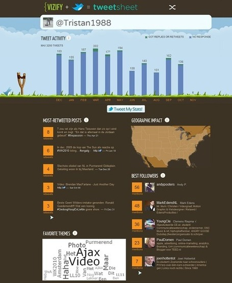 Je eigen Twitter-infographic via Vizify | Online & social | Scoop.it