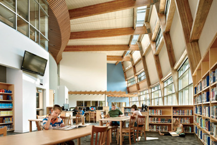 Design-Related | The Machias Elementary School's sunlit library.... | Learning Commons Design and Implementation | Scoop.it