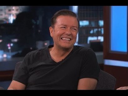 Ricky Gervais on Jimmy Kimmel Live PART 2   Extra Income   Scoop.it