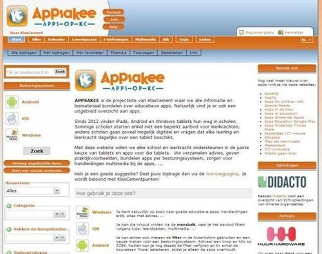 Appsakee: educatieve apps op KlasCement « It's all in the Cloud! | ICT Education | Scoop.it