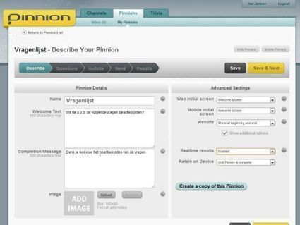 Met Pinnion maak je gratis online quizzen, enquêtes en polls ... | Tools en tips onderwijs | Scoop.it