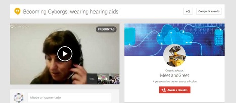 Primera experiencia de Hangout ON AIR Becoming Cyborgs in Google+ | Bitácora de una profesora digital | Scoop.it