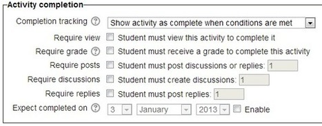 Sweet Feature: Completion Tracking of Forums | Using Moodle at Glyndwr | Scoop.it