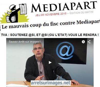 Le mauvais coup du fisc contre Mediapart (et Arrêt sur images) | DocPresseESJ | Scoop.it