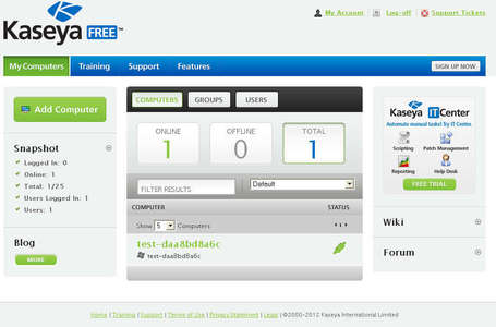 Free Web Based Remote Administration Tool: Kaseya | formation 2.0 | Scoop.it