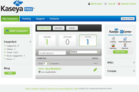 Free Web Based Remote Administration Tool: Kaseya | Time to Learn | Scoop.it