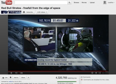 Space Jump Live Stream Already Breaks YouTube Record by 10x | NYL - News YOU Like | Scoop.it