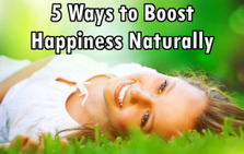 "5 Ways to Boost Happiness Naturally without Antidepressants (""be social, eat healthy & be physically fit"") 