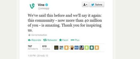 Vine a réuni 40 millions d'utilisateurs en 7 mois d'existence | Communication - Marketing - Web | Scoop.it