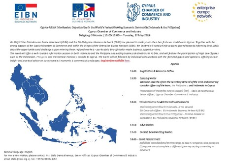 Cyprus-ASEAN Info-Session: Opportunities in the World's Fastest Growing Economic Community (Indonesia & the Philippines) | European Documentation Centre (EDC) | Scoop.it