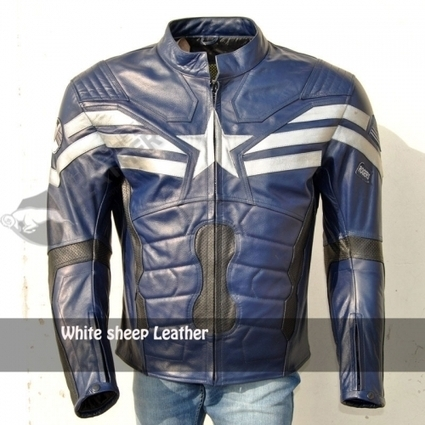 captain america The Winter Soldier Leather Costume Replica Jacket | movie leather jackets | Scoop.it