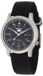 "Seiko Men's SNK809 ""Seiko T"" Automatic Watch with Black Canvas Strap | Military Surplus Center | Scoop.it"