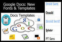 GoogleDocs - New Fonts and Templates | Google Docs for Learning | Scoop.it