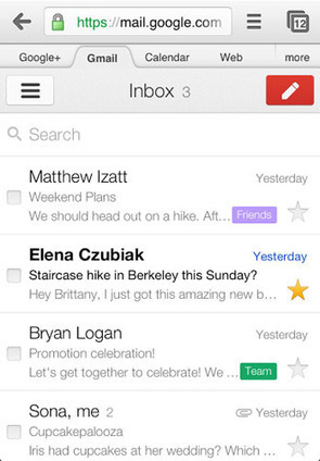 La versión web móvil de Gmail se rediseña | apps educativas android | Scoop.it