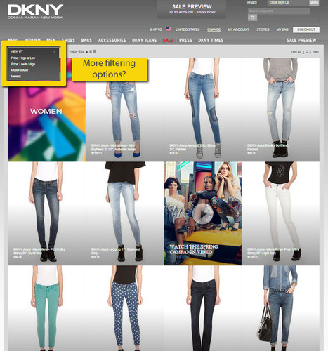 The Problem with Shopping for DKNY Jeans... Ecommerce Outtakes | ECommerce Outtakes | Scoop.it