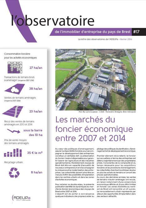 Les marchés du foncier économique entre 2007 et 2014 | ADEUPa | Actualités et Publications de l'ADEUPa, de ses partenaires  et du réseau des agences d'urbanisme | Scoop.it