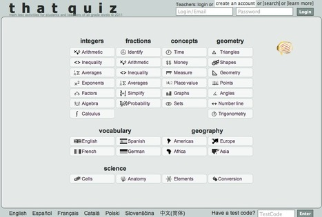 That Quiz - Maths, Vocabulary, Geography, Science | fun things | Scoop.it