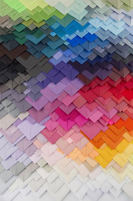 Transfixing 3D Paper Patterns by Maud Vantours | Communication design | Scoop.it