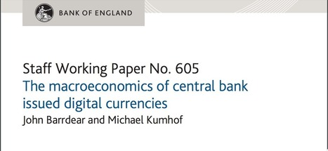 Bank of England releases key paper on digital cash and blockchain | The Money Chronicle | Scoop.it