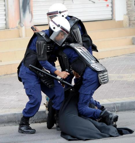 'Security' Forces attack this peaceful woman in Bahrain!  |  This has got to be a violation of Islamic law?! | Human Rights and the Will to be free | Scoop.it
