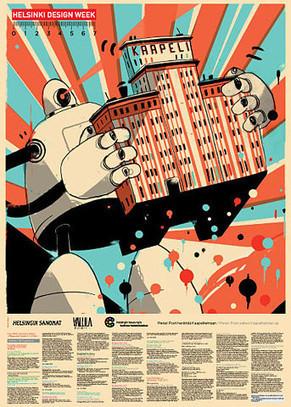 Pietari Posti Illustration : Helsinki Design Week picture on VisualizeUs   Vintage, Robots, Photos, Pub, Années 50   Scoop.it