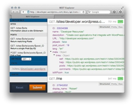WordPress.com dispose d'une nouvelle API REST, permettant l'accès aux articles et commentaires | Time to Learn | Scoop.it
