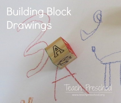 Building block drawing game in preschool | Teach Preschool | Scoop.it