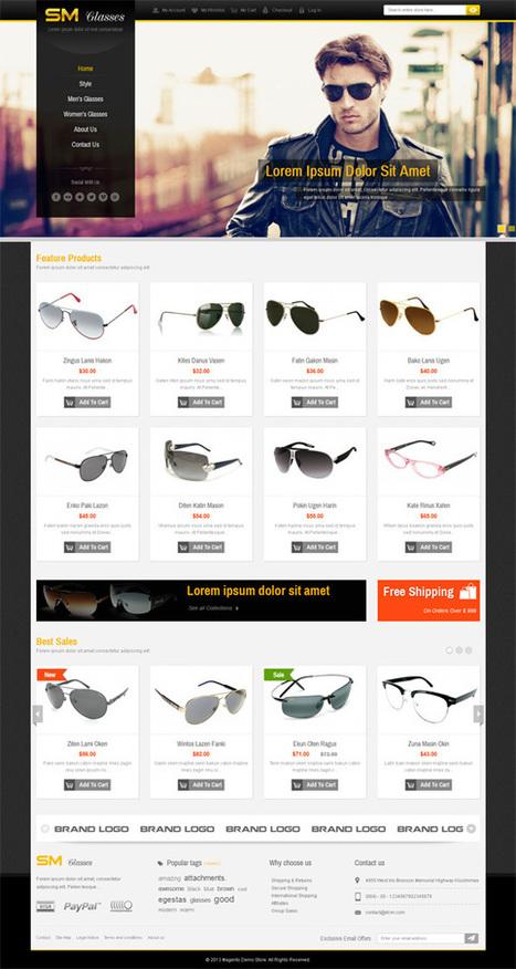 SM Glasses, Magento Responsive Glasses Shop Theme | Premium Download | Premium Magento Themes | Scoop.it