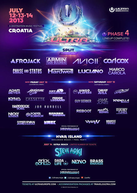 Ultra Europe adds seven more names to its inaugural lineup | DJing | Scoop.it