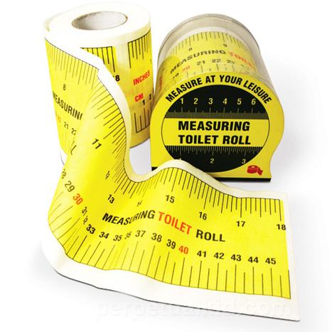 Measuring Tape Toilet Paper | All Geeks | Scoop.it