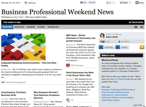 June 2 - Business Professional Weekend News | Business Futures | Scoop.it