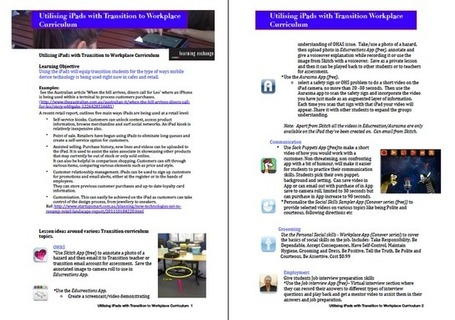 Learning and Teaching with iPads: Utilising iPads with Transition to Workplace Curriculum | iPad lesson ideas | Scoop.it
