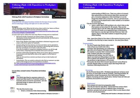 Learning and Teaching with iPads: Utilising iPads with Transition to Workplace Curriculum | ipads in education | Scoop.it