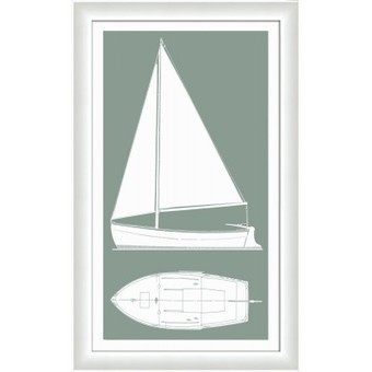 Sail Boat II in Silver Sage - Color Match | Iconic Pineapple - Reseller of Mirrors, Traditional Prints, Giclee Art Prints, Big Fish, New Century Picture, Picture It | Scoop.it