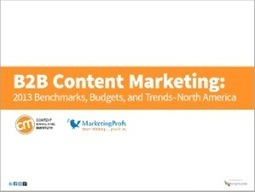 100 Facts from 2013 B2B Content Marketing Benchmarks, Budgets, & Trends Report | Online Marketing with Tech | Scoop.it