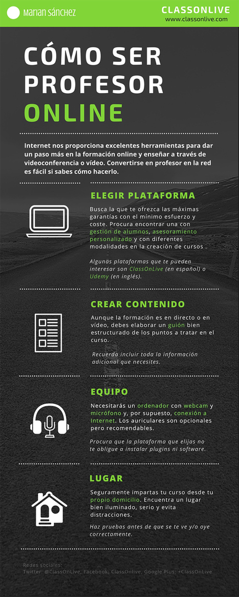 [Infografía] Cómo ser profesor online | Edumorfosis.it | Scoop.it