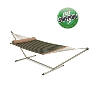 DOUBLE QUILTED HAMMOCK WITH HAMMOCK STAND & PILLOW | Hammocks in India | Scoop.it