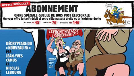 Charlie Hebdo brade ses abonnements dans les villes UMP et FN | Les médias face à leur destin | Scoop.it