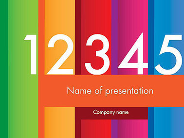 Colorful Numbers Presentation Template | Presentation Templates | Scoop.it